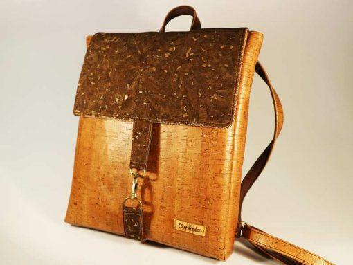 2e1559e90f Τσάντα Πλάτης Σχέδιο 01-03 Καφέ Φελλός – φελλος τσάντα